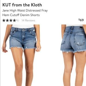 Kut From The Kloth Jane high rise shorts